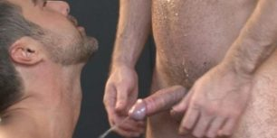 Gay dicks played with as they let out hot streams